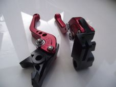 BMW R1200GS (04-12), CNC levers short red/chrome adjusters, B1/B2